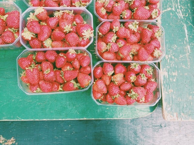 Summer-fresh strawberries from the Farmers' Market